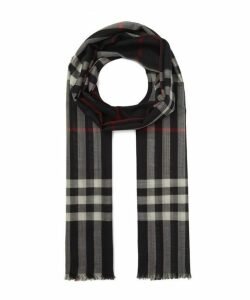 Gauze Giant Check Scarf