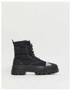 Diesel hiking style boots in black