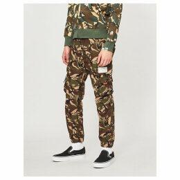 Camouflage-print cotton jogging bottoms