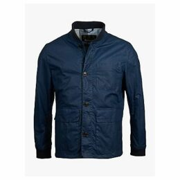 Barbour Kirkstile Waxed Cotton Jacket, Dark Denim