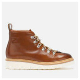 Grenson Men's Bobby Had Painted Leather Hiking Style Boots - Tan - UK 9 - Tan