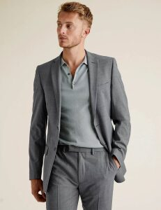 M&S Collection The Ultimate Grey Slim Fit Jacket