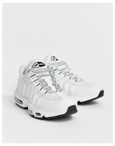 Nike Air Max 95 Trainers In White 609048-109