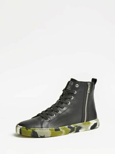 Guess Luiss Mid Lace-Up High-Top Sneakers