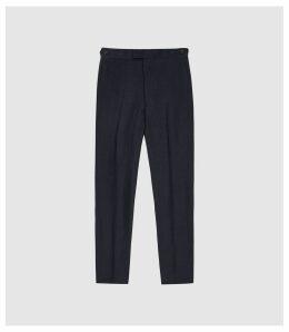 Reiss Jolt - Linen Slim Fit Trousers in Navy, Mens, Size 38