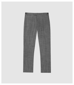 Reiss Lafite - Checked Modern Fit Trousers in Grey, Mens, Size 38