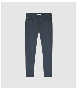Reiss Pistol - Five Pocket Slim Fit Trousers in Navy, Mens, Size 38