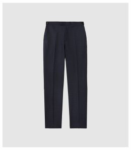 Reiss Muffato - Wool Modern Fit Trousers in Airforce Blue, Mens, Size 38