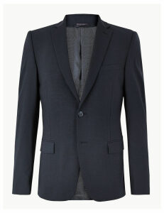 M&S Collection The Ultimate Big & Tall Navy Slim Fit Jacket