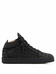 Giuseppe Zanotti Kriss diamond-textured sneakers - Black