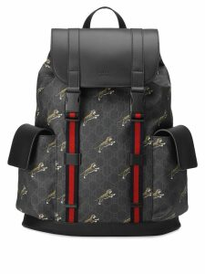 Gucci logo backpack - Black