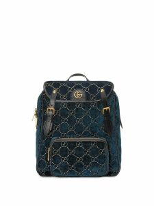 Gucci small GG pattern backpack - Blue