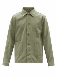Christian Louboutin - Louis Spike Embellished High Top Leather Trainers - Mens - Black