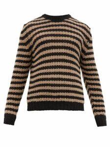 Prada - Striped Alpaca Sweater - Mens - Black