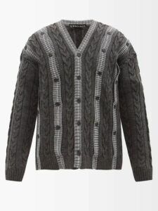 Rick Owens - Astaires Cropped Wool Trousers - Mens - Grey