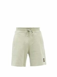 Altea - Houndstooth Check Virgin Wool Blend Trousers - Mens - Blue
