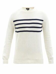 Ader Error X Maison Kitsuné - Cargo Cotton Jersey Track Pants - Mens - Black