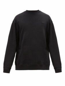 Acne Studios - Chest Patch Cotton Jersey Sweatshirt - Mens - Black