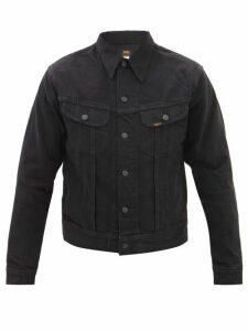 Balmain - Tapered Ribbed Inset Biker Jeans - Mens - Black