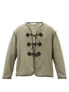Acne Studios - Ferris Face Cotton Hooded Sweatshirt - Mens - Blue
