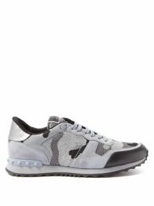 Loewe - Anagram Embroidered Wool Sweater - Mens - Blue