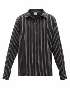 Stone Island - Logo Patch Wool Sweater - Mens - Light Grey