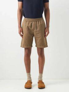 Ader Error X Maison Kitsuné - Logo Embroidered Cotton Blend Sweatshirt - Mens - Grey