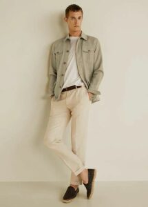 Linen cotton safari jacket