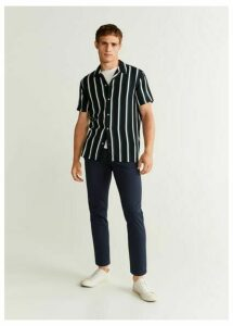 Tapered fit cropped trousers