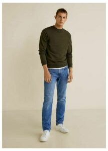 Regular fit medium wash Bob jeans