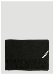 Acne Studios Canada New Scarf in Black size One Size