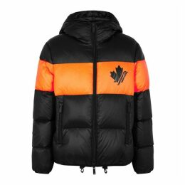 Dsquared2 Panelled Quilted Shell Puffer Jacket