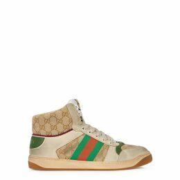 Gucci Screener GG Distressed Hi-top Sneakers