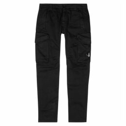 C.P. Company Black Stretch-cotton Trousers