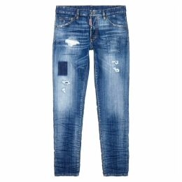 Dsquared2 Distressed Patch-appliqué Slim-leg Jeans