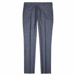 Paul Smith Blue Checked Wool-blend Trousers