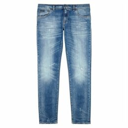 Dolce & Gabbana Light Blue Distressed Skinny Jeans