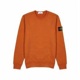 Stone Island Orange Cotton Sweatshirt