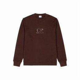C.P. Company Burgandy Logo-print Cotton Sweatshirt
