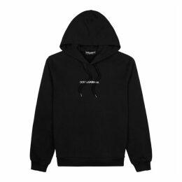 Dolce & Gabbana Black Logo-embroidered Cotton Sweatshirt