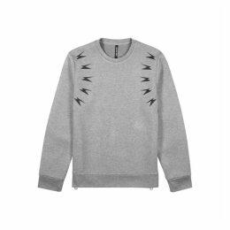 Neil Barrett Grey Printed Mélange Neoprene Sweatshirt