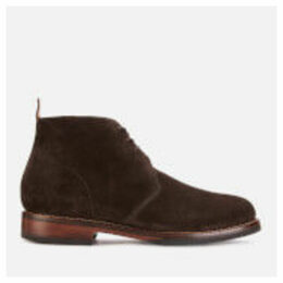 Grenson Men's Wendell Suede Desert Boots - Chocolate - UK 9 - Brown