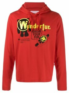 Walter Van Beirendonck Pre-Owned 2010's Wonder drawstring hoodie - Red