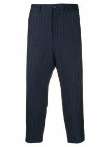 Comme Des Garçons Pre-Owned '1990s cropped trousers - Blue