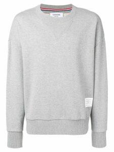 Thom Browne Oversized Loopback Sweatshirt - Grey