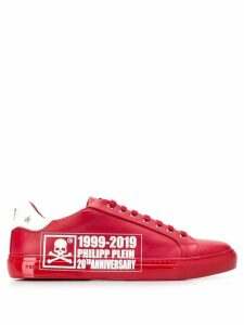 Philipp Plein 20th anniversary logo low-top sneakers - Red