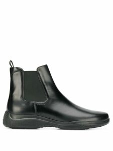 Prada space chelsea boots - Black