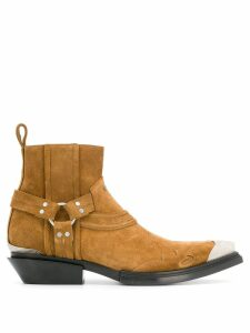 Balenciaga Santiag harness boots - Brown