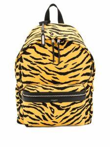Saint Laurent YSL City animal print backpack - Yellow