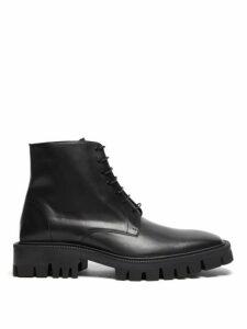 Balenciaga - Tread Sole Leather Boots - Mens - Black